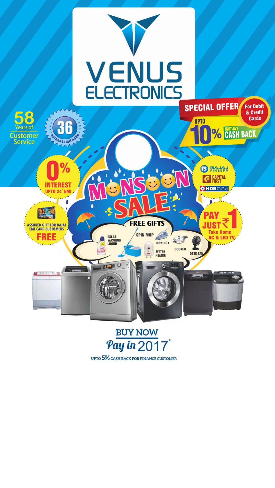Offers - venuselectronics - buzztm - Venus Electronics is a comprehensive and high quality Dealer/Retailer of All Electronics, Home Appliances and Consumer Durables. Established in the year 1978, in a small way, has now spread to other major cities in Tamil Nadu.